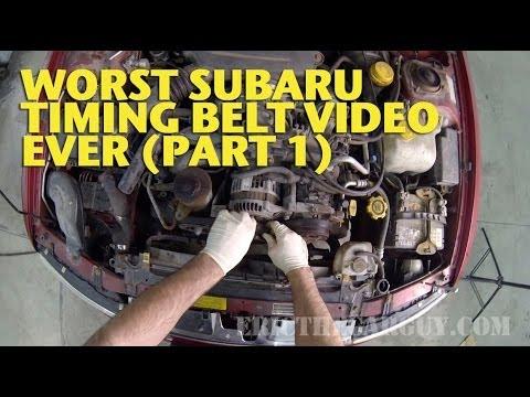 Worst Subaru Timing Belt Video Ever (Part 1) -EricTheCarGuy