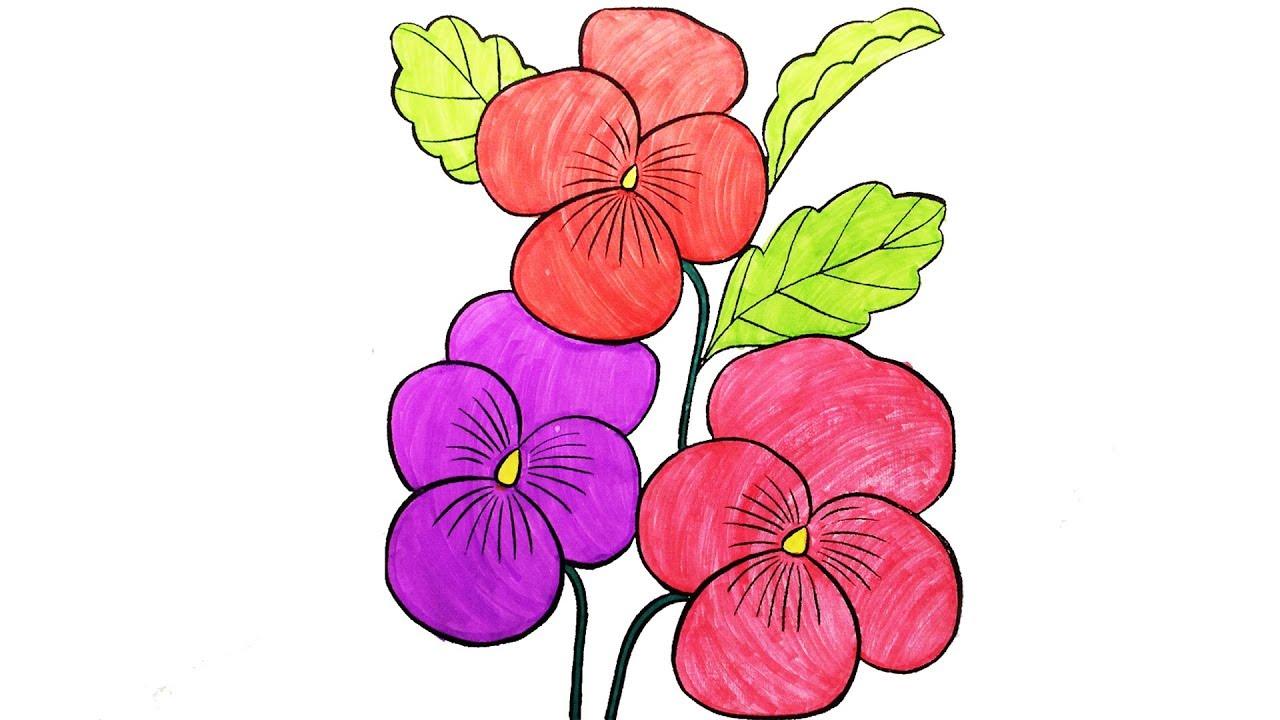 Картинки цветов для срисовки для детей
