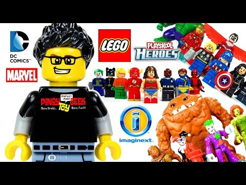 LEGO® Imaginext® Playskool Heroes Marvel Minimates DC Super Friends™ Channel Full Trailer