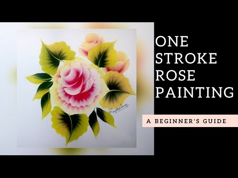 Quick and Easy Rose painting | Folk art Acrylic paint | DIY