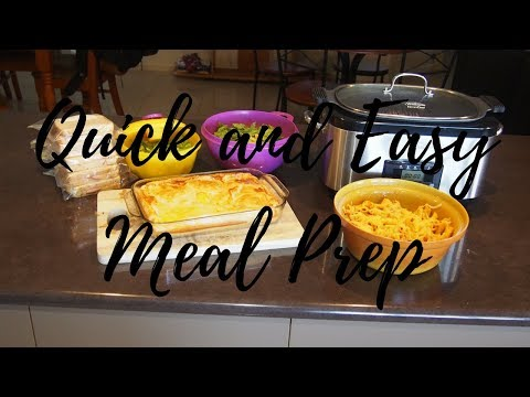 Quick and Easy Sunday Meal Prep | How To Meal Prep | Getting ahead for the week