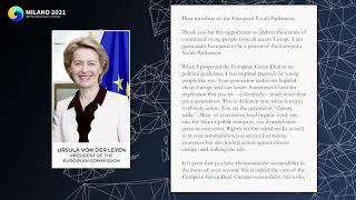 A Letter from Ursula von der Leyen to Milano IS