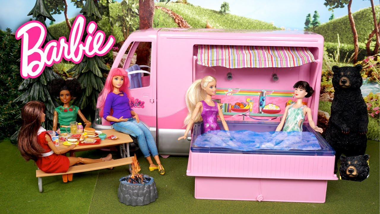 Barbie Dreamhouse Adventures Camping Trip Episode - Titi Toys