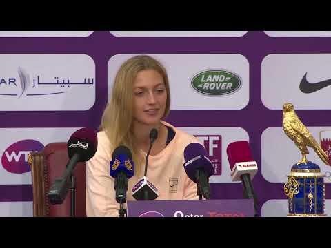 كفيتوفا تطيح بموغوروزا وتتوج بلقب بطولة قطر  - 00:21-2018 / 2 / 19