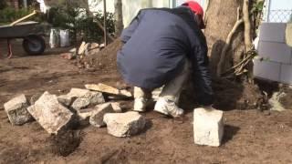 Делаем клумбы из камня вокруг дерева 1 ч. Flower-Betten aus Stein mit den Händen