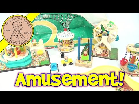Fisher-Price Vintage Amusement Park Playset #932 From 1963