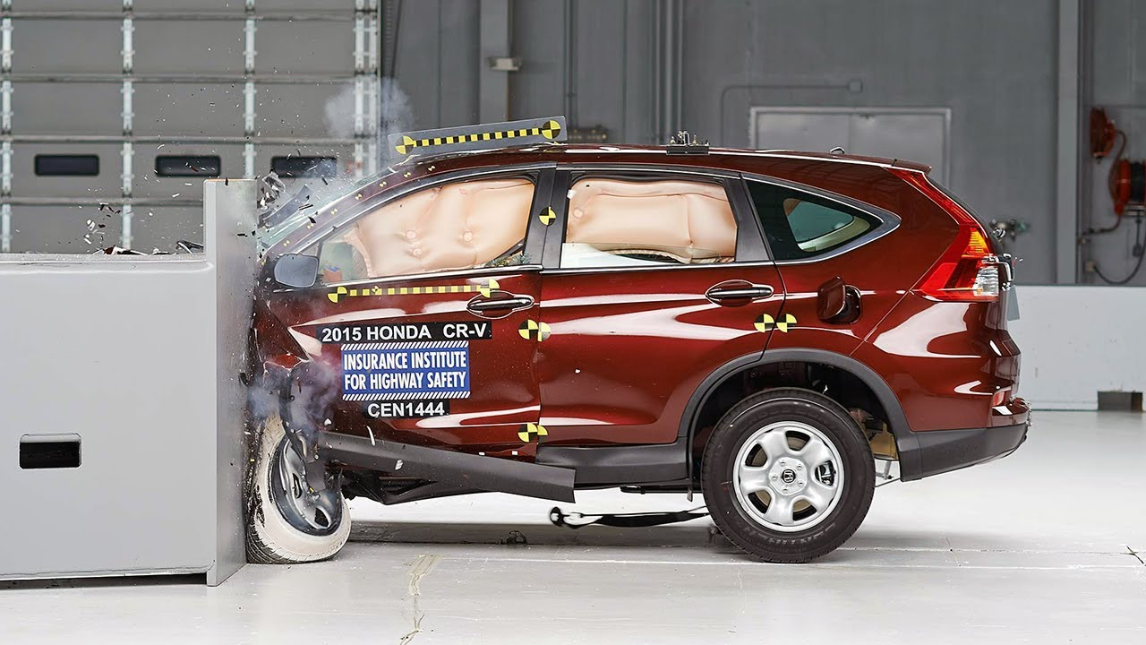 2015 honda cr v driver side small overlap iihs crash test. Black Bedroom Furniture Sets. Home Design Ideas