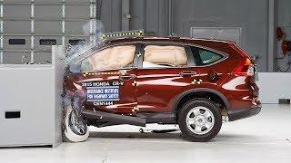 2015 Honda CR-V small overlap IIHS crash test