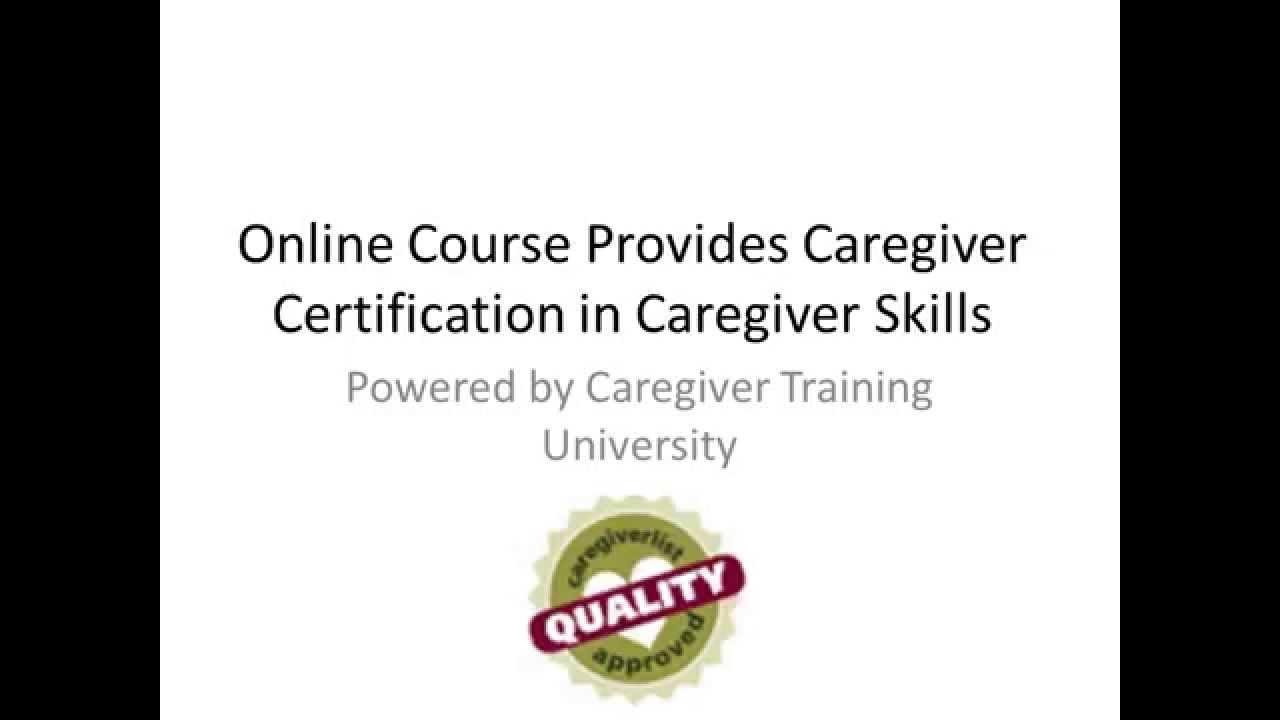 Online Senior Caregiver Training - YouTube