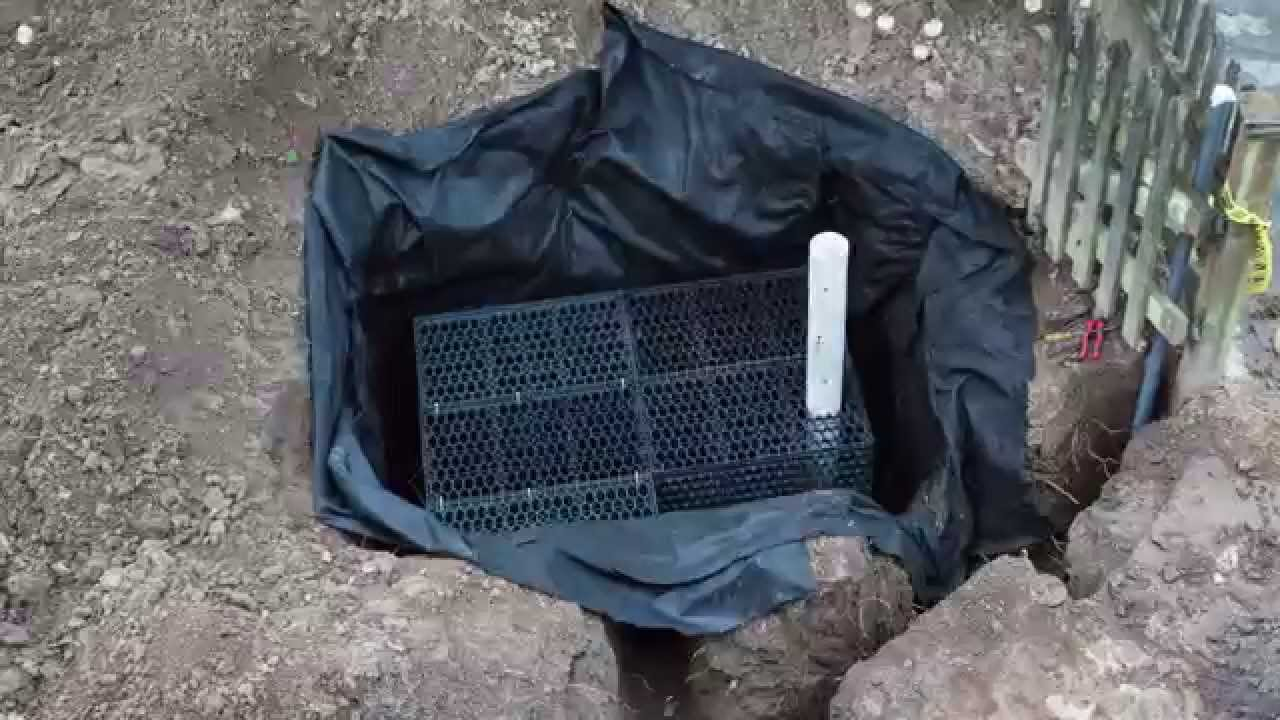 Installing An R Tank Rainwater Infiltration System Youtube