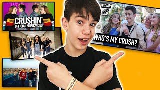 Reacting to Top Teen Crush Videos on YouTube | Ethan Fineshriber