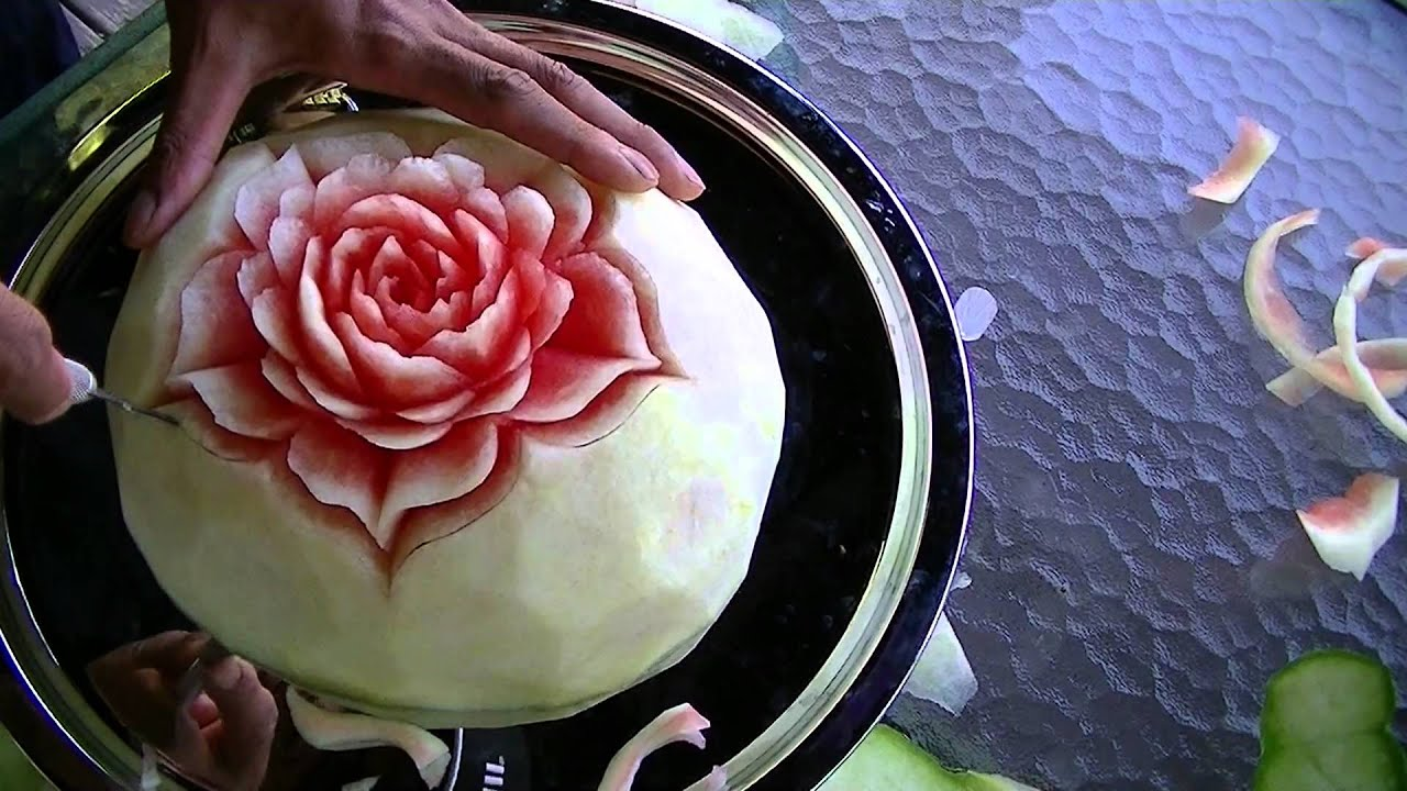 Fruit carving demonstration by koy youtube