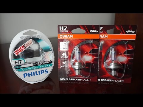 OSRAM Night Breaker LASER vs Philips X-tremeVision +130%