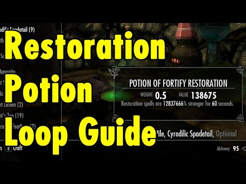 Restoration Potion Loop Guide - Skyrim Special Edition - xBeau Gaming