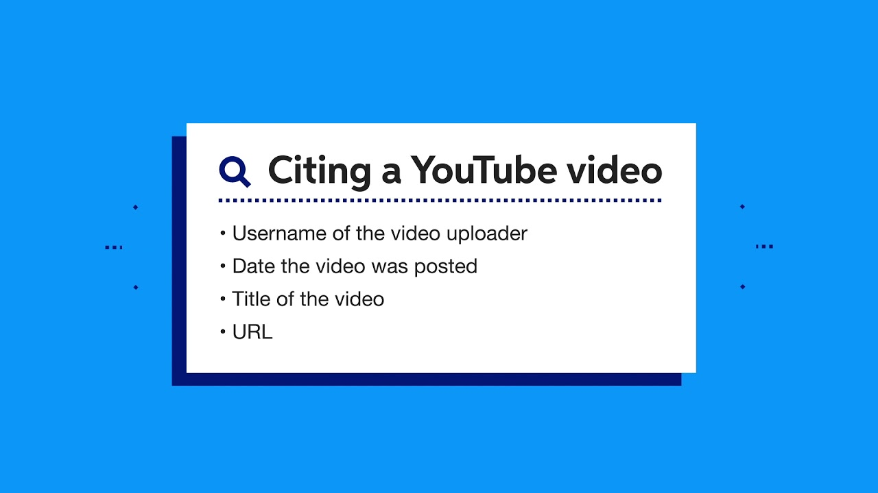 How To Cite A Youtube Video In Apa Easybib Citations