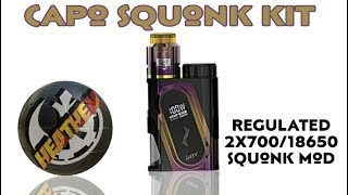 Finally an Affordable Regulated Squonk Kit....Ijoy Capo 2x700/18650 Squonk Kit w/new Combo RDA