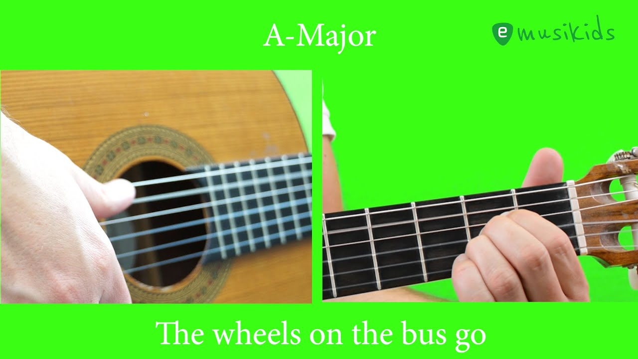 THE WHEELS ON THE BUS   GUITAR LESSON PLAYALONG   easy chords    Kinderlieder   Children Song Guitar