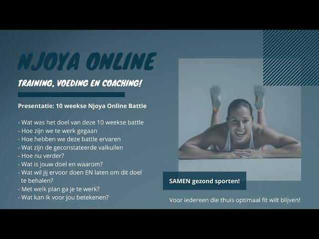Njoya Online Presentatie - afsluiting 10 weekse Battle