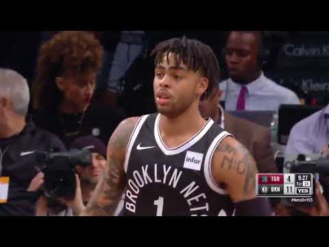 D'Angelo Russell Hits 7 Straight Threes In First Quarter Against Raptors! Raptors vs Nets!