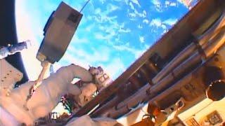 FULL US33 Spacewalk ISS port truss cooling system stream - Scott Kelly and Kjell Lindgren