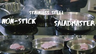 Cookware Comparison: Fried Chicken (Saladmaster vs Non-stick vs Stainless Steel)