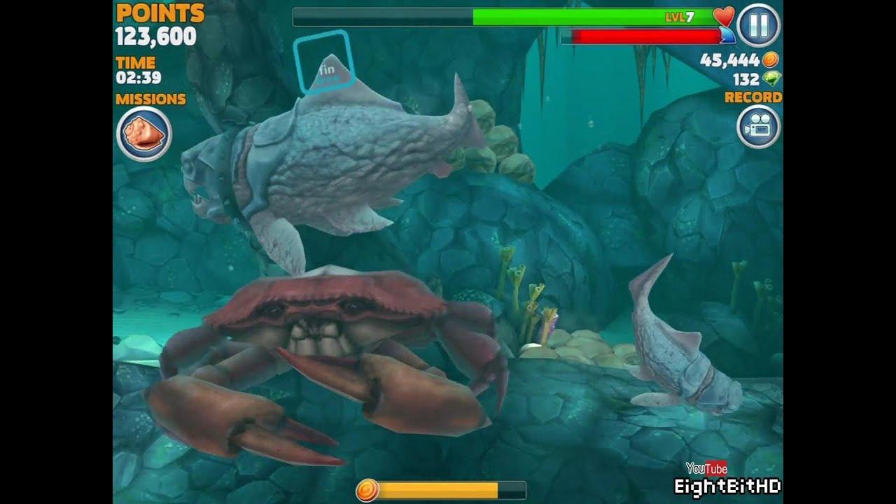 Hungry shark evolution megalodon vs giant crab - photo#6