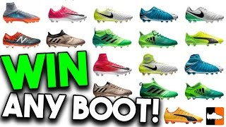 WIN FOOTBALL BOOTS for You & a Friend. ENTER NOW!