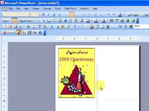 Make Your Own Wine Labels In PowerPoint