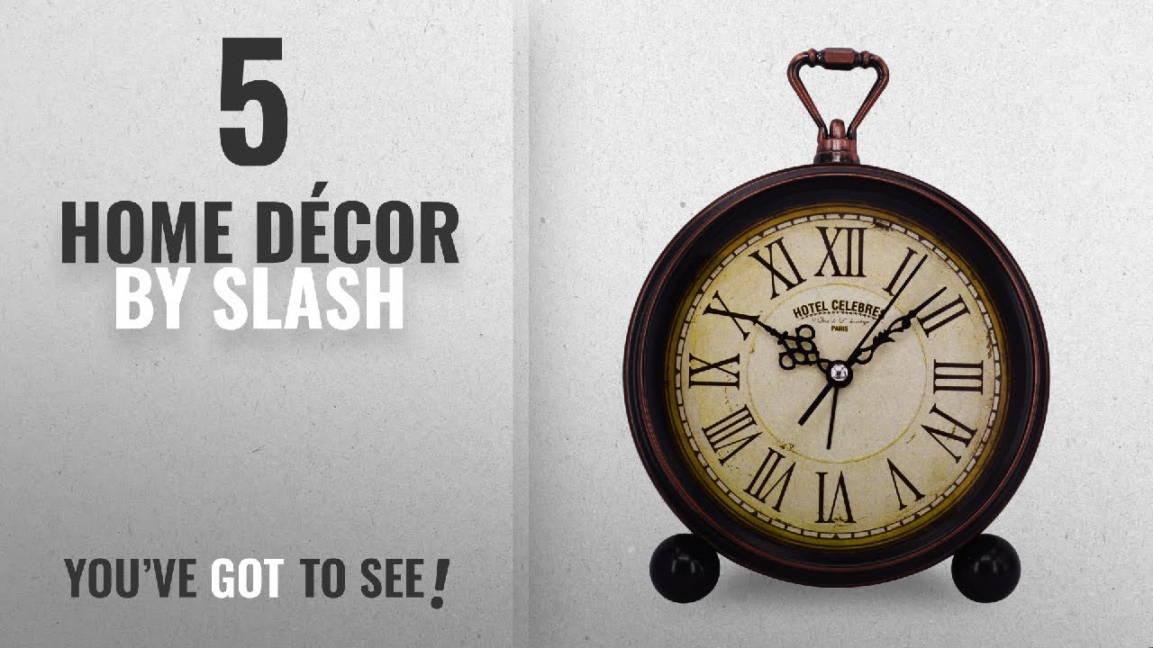 Top 10 Home Décor By Slash [ Winter 2018 ]: Vintage Retro Living Room  Decorative Non Ticking, Sweep