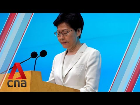 Hong Kong leader Carrie Lam apologises after extradition Bill protests | Full English speech + Q&A