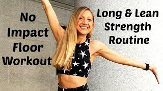 No Impact Floor Barre Workout. 30 Minute Long & Lean Routine