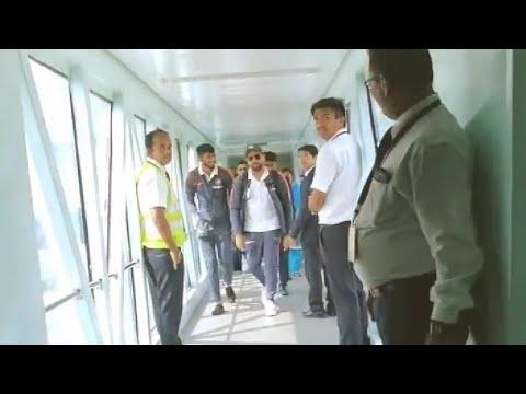 India vs West indies 5th ODI Trivandrum arrival