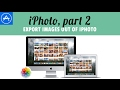 How to export images out of iPhoto?