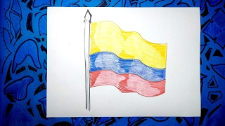 Video Aprende a dibujar la bandera Oficial de Colombia con colores download MP3, 3GP, MP4, WEBM, AVI, FLV Juli 2018