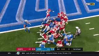 Kerryon Johnson FUMBLE at the 1! RETURNED FOR 100 YARDS! | LOL!