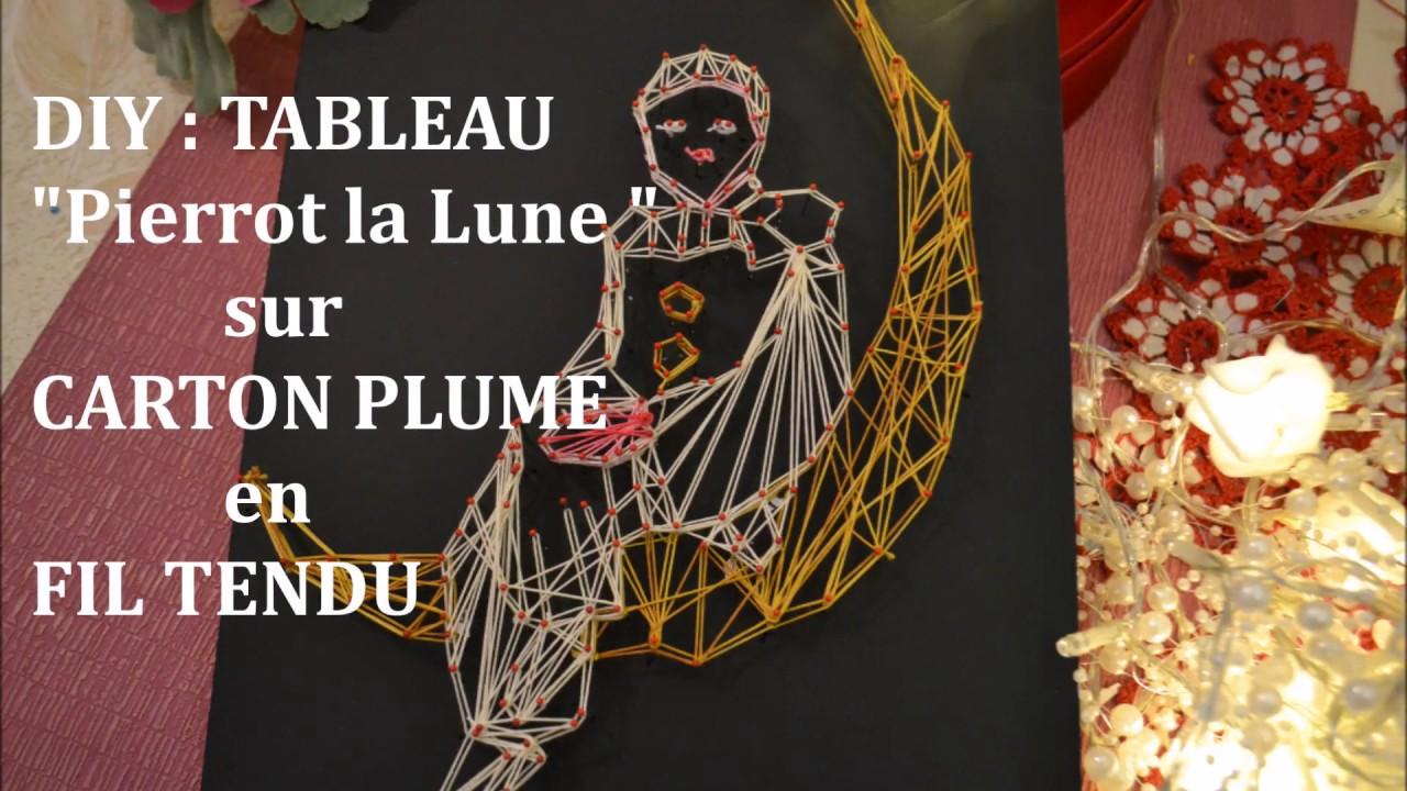 Comment créer 1 tableau String Art ou Fil Tendu PIERROT Tutoriel ☆ LOISIRS CREATIFS - YouTube