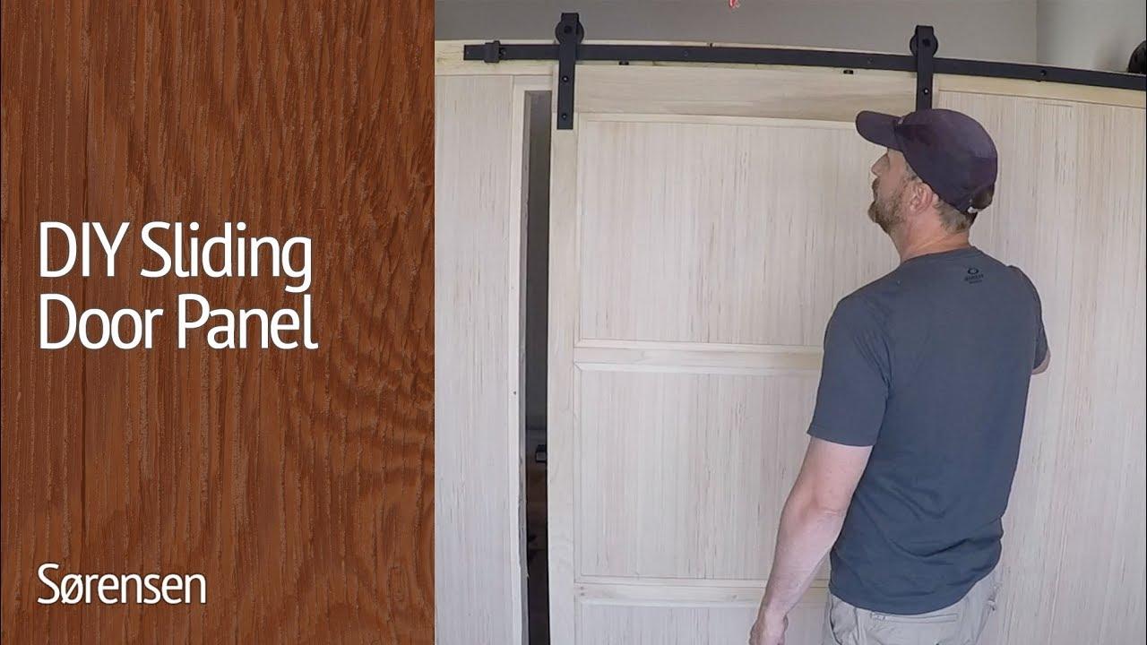 DIY Sliding Door Panel   YouTube