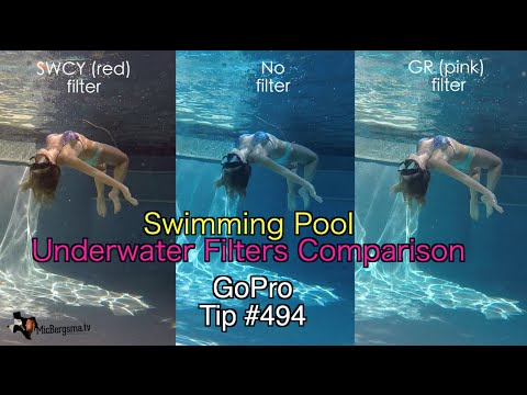 GoPro Underwater Filters Swimming Pool Comparison - GoPro Tip #494