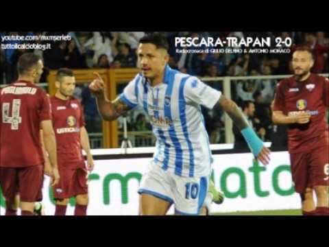 PESCARA-TRAPANI 2-0 - Radiocronaca di Giulio Delfino & Antonio Monaco (Finale Playoff Andata) Radio1
