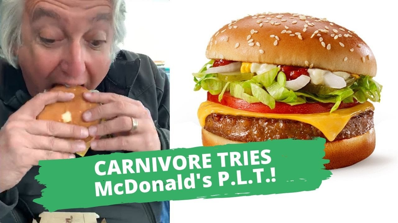 carnivore tries McDonald's P.L.T. ? burger | hot for food