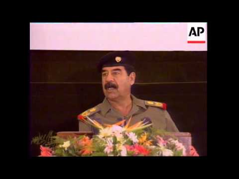 IRAQ: SADDAM HUSSEIN ORDERS ELECTION OF HIS MILITARY BUREAU