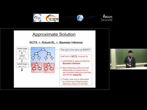 "ICAPS 2018: Toru Hishinuma on ""An Approximate Bayesian Reinforcement Learning Approach Using ..."""