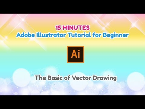 Tutorial | 15 Minutes Adobe Illustrator Tutorial for Beginner | The basic of vector drawing thumbnail