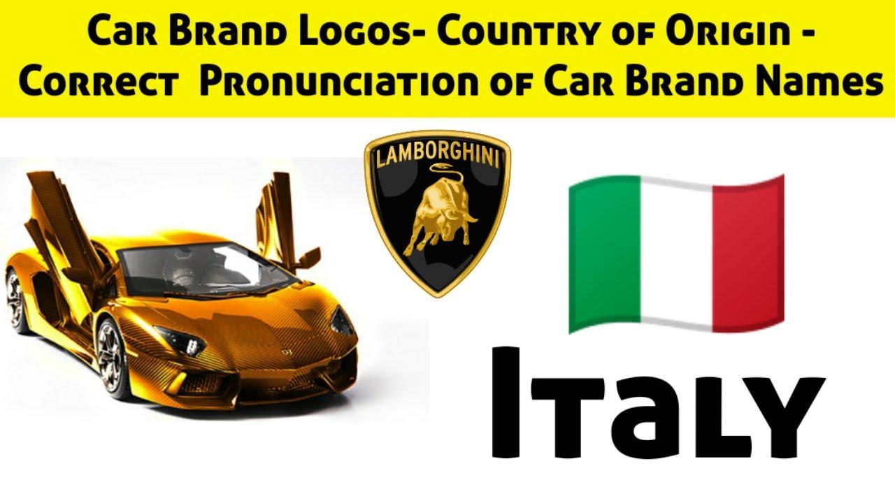 Car Logo Quiz Pronunciation Of Car Brand Names Country Of Origin Of Car Brands Guess The Logo Youtube