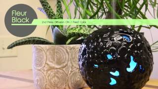 Fleur Black Ceramic Aromatherapy Ultrasonic Diffuser - Use your favorite essential oil.