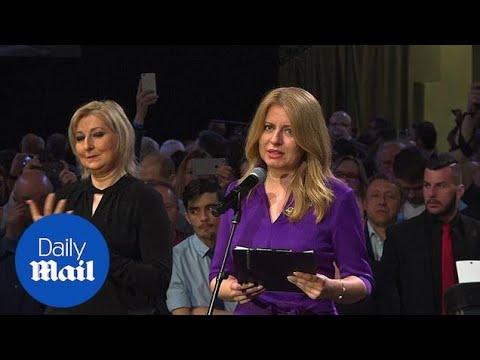 Slovakia elects their first female president Zuzana Caputova