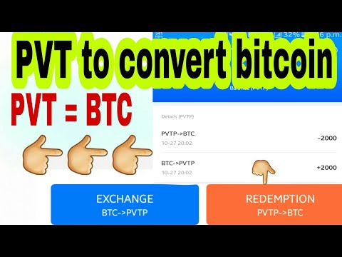 Pvt to convert bitcoin, pivot ko bitcoin me kaise change kre 100% BITCOIN CONVERT PIVOT