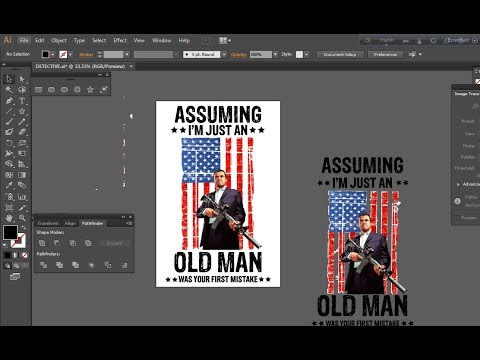HOW TO DESIGN AMERICAN DETECTIVE T-SHIRT | ADOBE ILLUSTRATOR TUTORIAL thumbnail