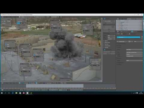 CGI Explosion - Live Action Integration Tutorial - Blender Cycles