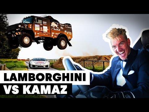 Kamaz Truck Jumps Over Drifting Lamborghini: Mad' Mike Whiddett vs Eduard Nikolaev | Goodwood 2019